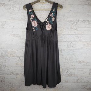 Aeropostale Fit & Flare Lace Up Dress